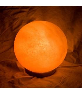 Esfera de lâmpada de sal polida - Natural - Himalaia - novidade