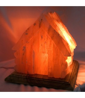 Lampada casa lucidato sale himalayano - naturale - bambù