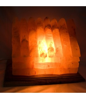 Lampe maison poli - naturel - sel Himalaya bambou