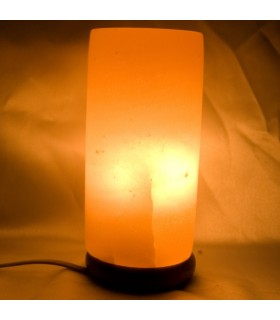 Polished - Natural - salt Himalayan cylinder lamp