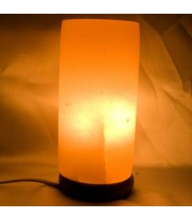 Poliert - Natur - Salz Himalaya Zylinder Lampe
