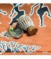 Chaveiro Djembe africanos-miniatura-madeira-pele-corda