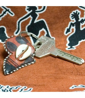 Ethnique de motifs africain Keyring - cuir-
