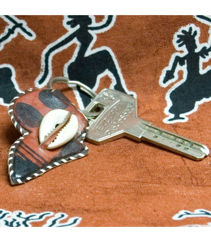 African Keyring - Leather - Ethnic Grounds