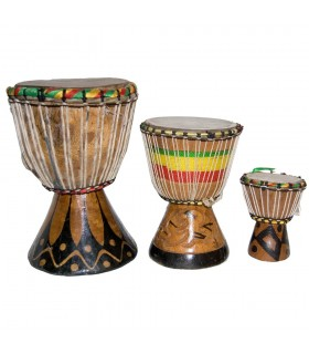 Djembe African - 3 sizes - drum - engraving - craftsman