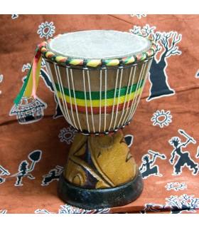 Djembe africain - tambour - gravure - artisan