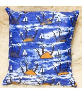 Coussin ethnique africaine - tissu 100 % coton - marine design