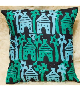 Ethnic African Cushion Fabric 100% Cotton - Design Green Houses