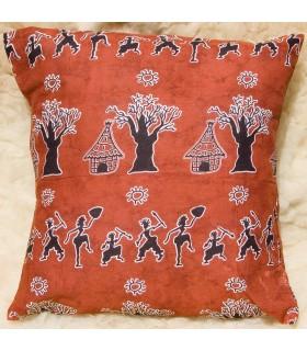Coussin ethnique africaine - tissu 100 % coton - conception tribu