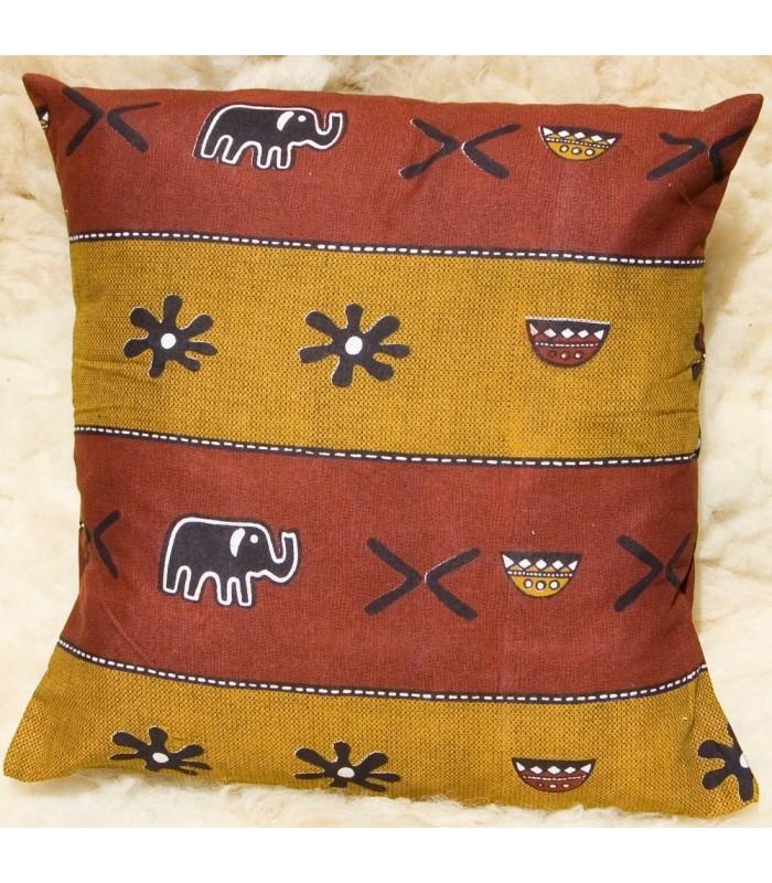 Ethnic African Cushion Fabric 100% Cotton - Design Pumpkin