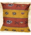 Ethnic African Cushion Cover - 100% Cotton Fabric - Pumpkins Design