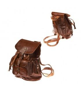 Рюкзак кожаный - Африканский этнический - различные карманы - 3 размеров