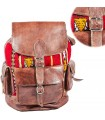 Leather Backpack Tapíz - African Ethnic Craft-Various Pockets