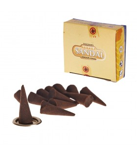 Cones incense sandalwood - SATYA - 12 units - includes Base