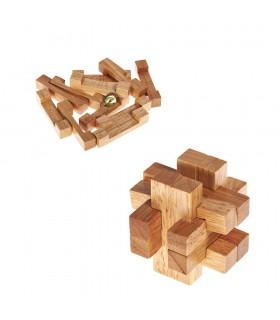 Cruz Madera Compleja - Ingenio- Rompecabezas - Puzzle - 8 x 8 cm