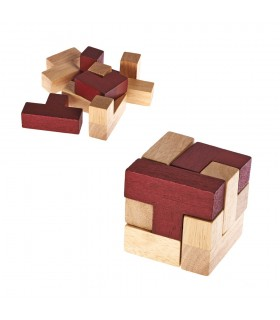 Puzzle game cube red - colors - puzzle - 7 x 7 cm