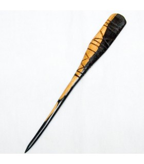 Medium Hair Fork - Ebony Wood - Africa - Recorded