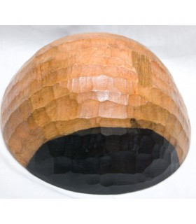 Kompottschale Holz - Handwerker - Afrika - schwarz und weiß