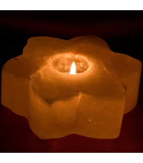 Salt Candle Flower - Natural Himalaya - Gross - Feng Shui