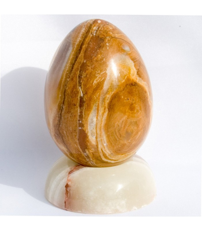 Polished Onyx Egg - Natural Mineral - Nice Touch