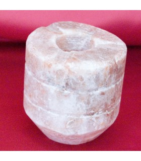 Cilindro Cinzeiro - Sal do Himalaia - Mineral Natural 9 x 10 cm