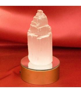 Monolithe sélénite - minéral naturel - base de couleur en option