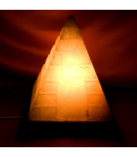 Lamp - Natural - engraved pyramid Himalaya - NOVELTY