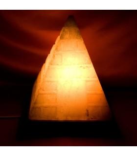 Lampe - naturel - gravée pyramide Himalaya - nouveauté