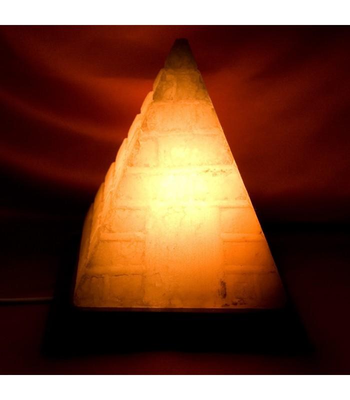 Lámpara Piramide Grabada - Natural - Himalaya - NOVEDAD