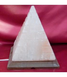 Lampe - Natural - Gravur Pyramide Himalaya - Neuheit