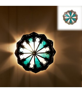 Hollow Forge Ceiling-Crystal and Resins-Arabic Design-Multicolor