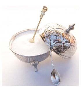 Teelöffel Zucker - Bronzeguss oder Nickel - 10 cm