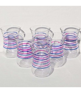 Turkish Cups Set of 6 - Model Stripes - High Quality