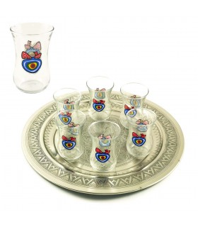 Set of 6 glasses - Turkish eye - protection - high quality