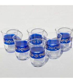 Set di 6 bicchieri qualità di turco - motivi dorati - grande