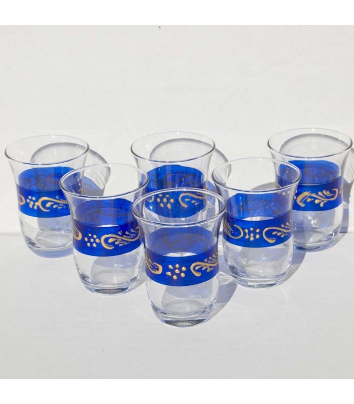Turks set of 6 cups - Grounds Gold - High Quality