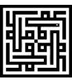 Mohammed - Quadruple Design - Geometric Kufic Arabic Script