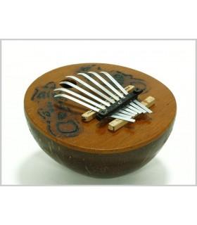 Kalimba - instrument africain - noix de coco - bat