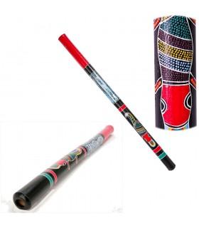 Bois de didgeridoo - motifs ethniques - peint à la main - 1m