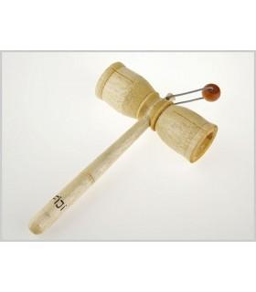 Instrument de bois marteau - boule Musical - 17 x 11 cm