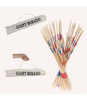 Mikado Gigante Madera  - 50 cm - Bolsa Algodón Transporte