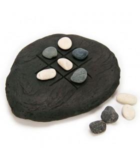 Tic-Tac-Toe rustic - natural stones - 18 x 14 cm