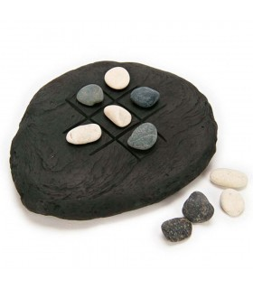 TIC-TAC-TOE rustique - pierres naturelles - 18 x 14 cm