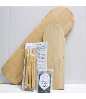 Pack scrittura arabo - legno tavolo - Kalam e inchiostro