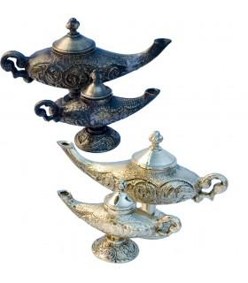 Öllampe Genie Aladdin Messing graviert - 2 Größen - 2 Modelle