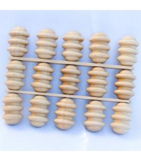 Massaggiatore a mano - legno - 11 x 15 cm