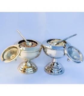 Naveta Grain Incense - Casting - Bronze or Nickel - Spoon