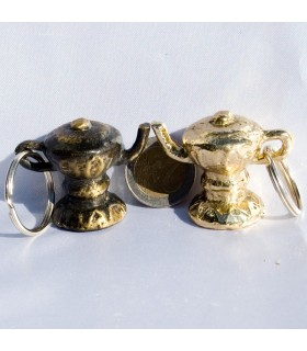 Keychain Kettle luck - bronze or nickel - new Arabic