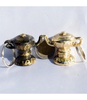 Portachiavi bollitore fortuna - bronzo o nickel - nuovo arabo
