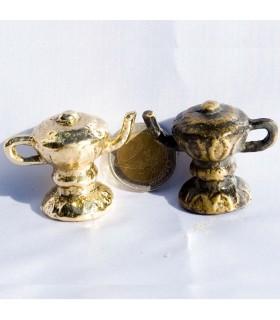 Mini Teekanne Arabisch - cast Bronze oder gereift-sehr nett - 4cm